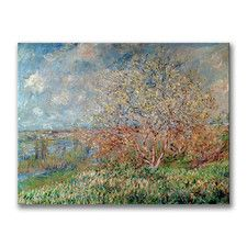 'Spring, 1880' by Claude Monet Painting Print on Canvas