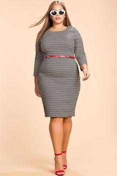 Stella Geo Sheath Dress
