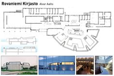 biblioteca alvar aalto rovaniemi Library Plan, Alvar Aalto, Finland, Contemporary Design, Planets, Floor Plans, Public, How To Plan, Country