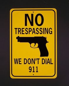 We don't dial 911....at least until after our home is secured....