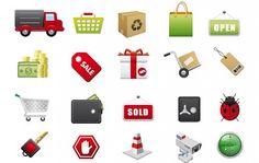 Icônes vectorielles E-Commerce