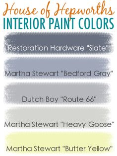 House of Hepworths interior house paint colors.