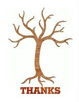 Thanks, and Giving, Tree prints to add leaves of thanks to in November