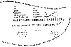 """Guillaume Apollinaire, La Petit Auto from """"Calligrammes"""", 1912-1918   http://www.ubu.com/historical/app/index.html"""