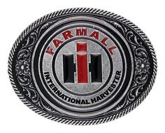 International Harvester Red Amp Black Logo White Buckle