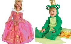 The perfect little brother-big sister costume combination: a princess and her frog prince .