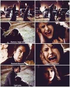 Love how Elena calls out to Damon and as usual he doesn't disappoint her :)