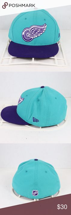 New Era Detroit Red Wings Fitted Hat 7 3 4 Teal New Era 59 Fifty dc2e92c3729