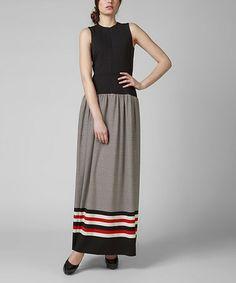 Black & Red Stripe Larysa Maxi Dress #zulily #zulilyfinds