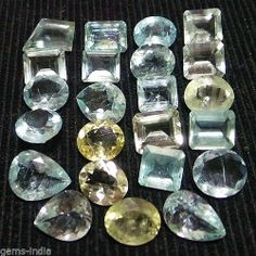 ~ {Certified Lot} 56.80 ct Combo Mix-Shape Santa Maria AQUAMARINE UNHEATED
