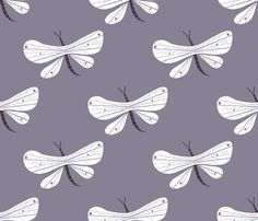 Dragonfly lilac fabric by cousaspequenas on Spoonflower - custom fabric