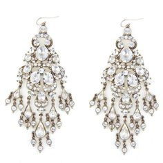 Large Crystal Chandelier Earrings ❤ liked on Polyvore