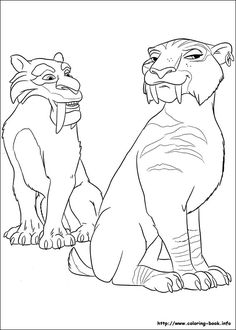 ice age continental drift coloring picture - Ice Age Characters Coloring Pages