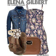 Inspired by Nina Dobrev as Elena Gilbert on The Vampire Diaries.
