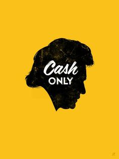 Johnny Cash – by Chad Gowey Johnny Cash, Johnny And June, Design Poster, Graphic Design, Type Design, Print Poster, Illustration Photo, Gold Print, Mellow Yellow