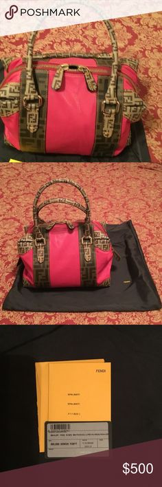 Authentic Fendi bag Gently used  Fendi fushia bag 11 in length and 8.5  in height Fendi Bags Satchels
