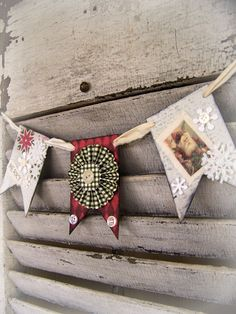 Christmas Garland Christmas Banner Red and Green Decor  by QueenBe, $21.00