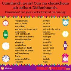 Na Clocaichean #gàidhlig #gaelic bho: https://www.facebook.com/Gaelic4Parents/photos/a.10151472443608618.1073741825.266197993617/10154000504923618/?type=3&theater