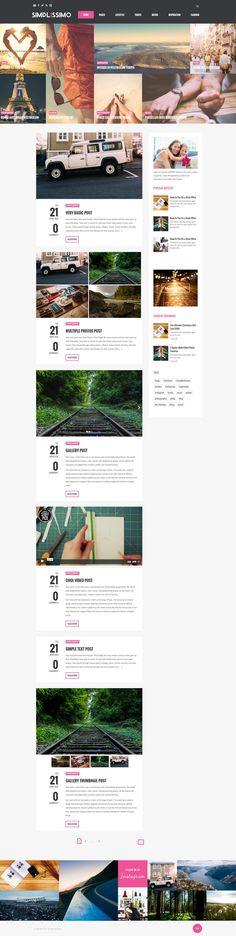 Website Design Layout, Wordpress Website Design, Wordpress Theme Design, Website Design Inspiration, Layout Design, Fashion Website Design, Browser Support, Responsive Layout, Web Design Trends