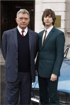 Lee Ingleby as Det. Sgt. John Bacchus and Martin Shaw in the title role in Inspector George Gently
