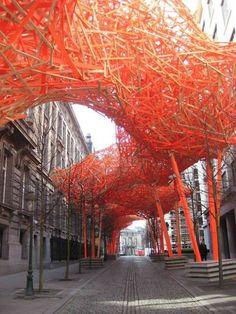 amazing art in alley of Belgium