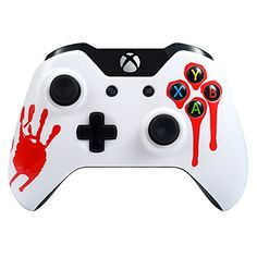 eXtremeRate Blood Hand Front Shell Face Plate Replacements Parts for Standard Xbox One Controller With and Without 35 mm jack ** For more information, visit image link.Note:It is affiliate link to Amazon.