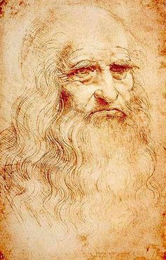 "Leonardo Da Vinci Da Vinci defined the ""Renaissance Man"" with his inventions, art and scientific theories. This self-portrait of the famous artist and inventor was composed in red chalk. Date: 1512-1515. Artist: Leonardo da Vinci."