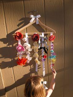 Wood Hanger hair clip organizer craft