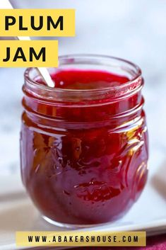 Homemade plum jam is a summer treat to make then enjoy throughout the year. I've gotten back into canning mode around here and this plum jam recipe was a delicious way to preserve summer's fresh fruit. Let's learn how to make plum jam together. Plum Jelly Recipes, Fruit Recipes, Plum Jam Recipes Easy, Homemade Jam Recipes, Fruit Jelly Recipe, Easy Recipes, Freezer Jam Recipes, Plum Freezer Jam, Homemade Jelly