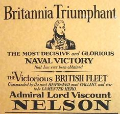 Battle of Trafalgar poster (1805)