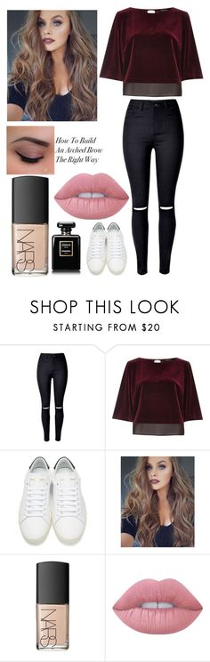 """""""&"""" by annnnnnnnnn ❤ liked on Polyvore featuring River Island, Yves Saint Laurent, NARS Cosmetics and Lime Crime"""