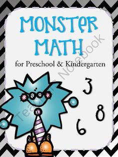 Monster Math for Preschool & Kindergarten from Mommy & Me Creations on TeachersNotebook.com -  (6 pages)  - Monster Math is a perfect little printable activity set that has children count, add, subtract, and work on patterns. It's perfect for any preschool or kindergarten classroom.