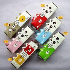 New animals DIY milk cartons creative pencil case pencil case pencil box bag Gift for girl 30pcs/lot wholesale+ Free shipping
