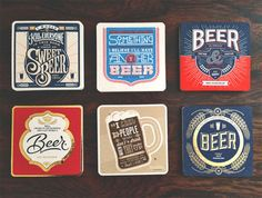 Typography coasters celebrate the beauty of beer.