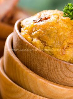 Mofongo (Garlic-flavored mashed plantains)...  My favorite Dominican food!!