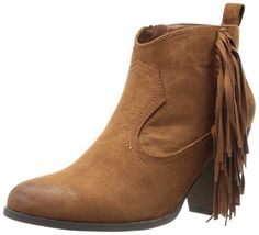 Qupid Womens Nixon01 Ankle Bootie Dark Rust 6 M US ** Find out more about the great product at the image link.
