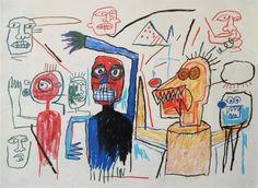 Jean-Michel Basquiat, Untitled (Many Figures), 1982