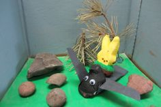 """How to Train Your Peep"" by Cole (youth category WINNER, age 8) / Missoula Public Library Peeps Show 2014 contest entry WINNER"