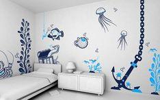 deniz temalı yatak odaları