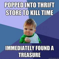 The thrift store score!
