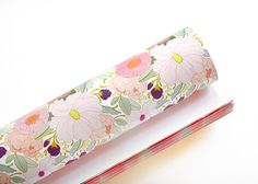 Pretty Full Floral Gift Wrap 3 Sheets by Paper Raven Co.