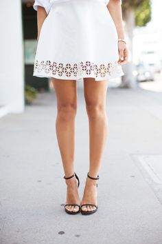 White cut-out skirt