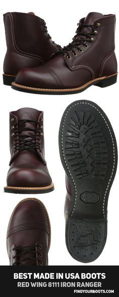 RED WING 8111 IRON RANGER - Best men's leather boots Made in America