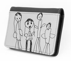 Scan your child's artwork and add the image to a Leather Wallet or Tote to delight mom.