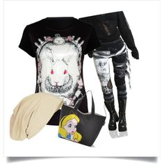 PunkAbility: Down the Rabbit Hole by bagheera57 on Polyvore