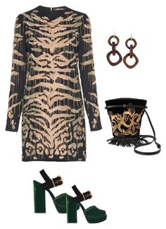 leopardo by camilamairams on Polyvore featuring moda, Roberto Cavalli, Prada and Nest