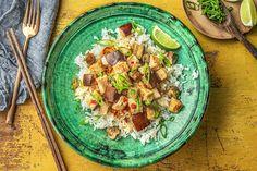 Scharfes Curry mit Putenbrust