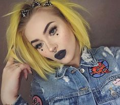 yellow hair / i want to adopt a stand out style that makes me memorable so people don't forget about me