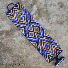 Bead Loom Patterns, Peyote Patterns, Beading Patterns, Native Beadwork, Native American Beadwork, Bead Crochet Rope, Bead Loom Bracelets, Loom Beading, How To Make Beads