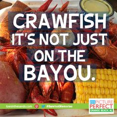Join us at the Holiday Inn Resort in Pensacola Beach for Crawfish Boils every Saturday & Sunday this summer! #barefootmemories